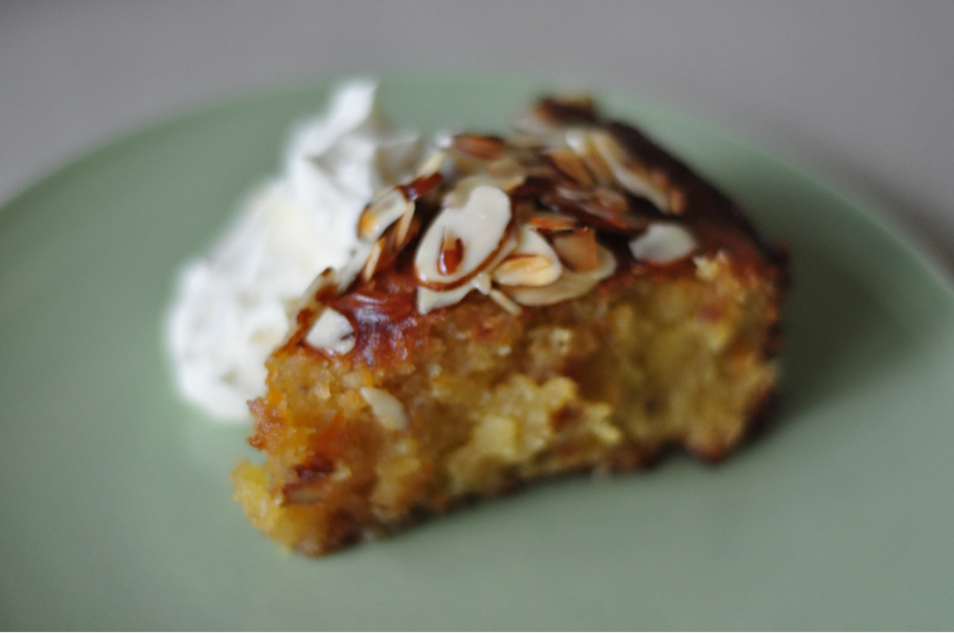 Almond, coconut and orange cake with honey and mint syrup | Needle & I ...
