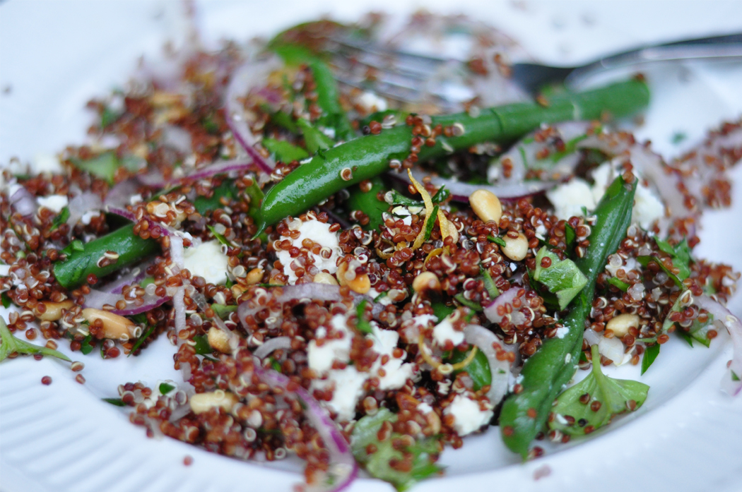 Herby quinoa salad with green beans and feta | Needle & I Design